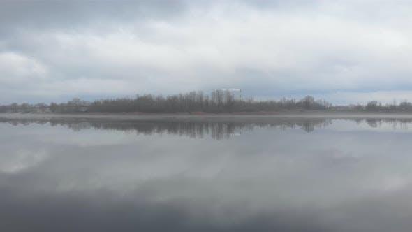 Island Cloudy River