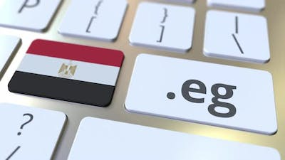 Egyptian Domain .Eg and Flag of Egypt on the Buttons