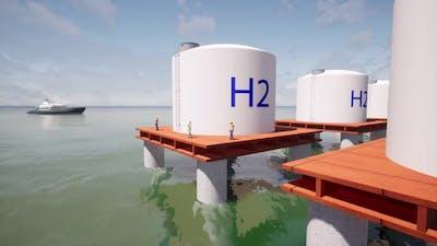 H2 Sea Alternative Energy Concept Green Clean Renewable Energy