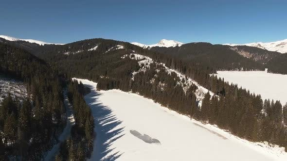 Thumbnail for Mountain Frozen Lake With Clear Sky