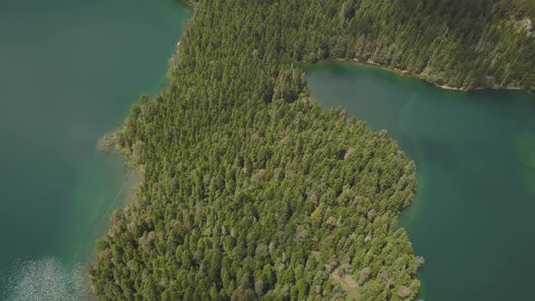 Thumbnail for Aerial Footage of the Black Lake in National Park Durmitor
