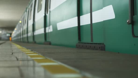 Thumbnail for A Green Train in the Subway