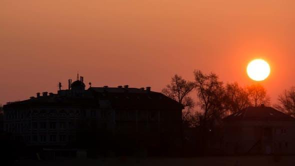 Thumbnail for Sunrise Over the Big Villa House