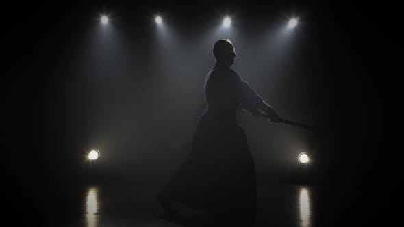 Thumbnail for Kendo Master Practicing Martial Art with the Katana Sword