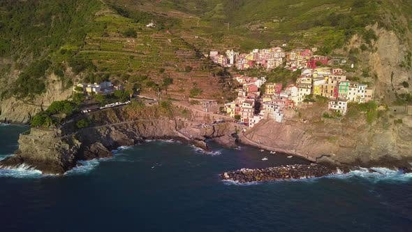 Thumbnail for Aerial View of Manarola in Cinque Terre Italy