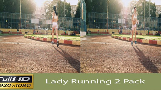 Thumbnail for Lady Running  2 Pack