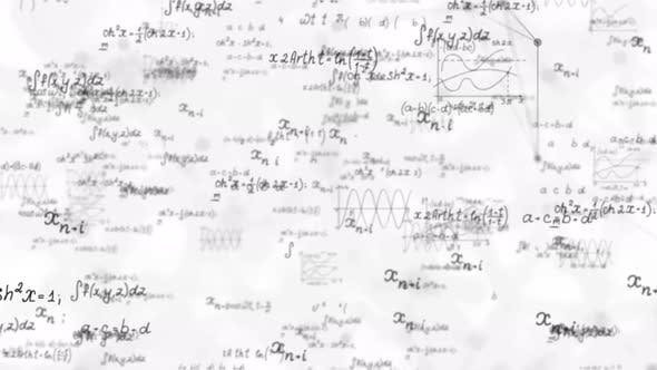 Mathematical Formula Calculations Background 4K
