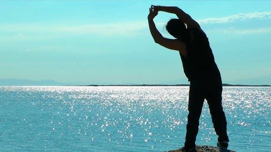 Thumbnail for Man Making Sport Near the Seaside 2