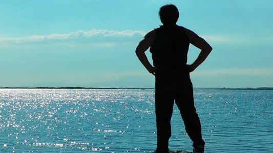 Thumbnail for Man Making Sport Near the Seaside 3