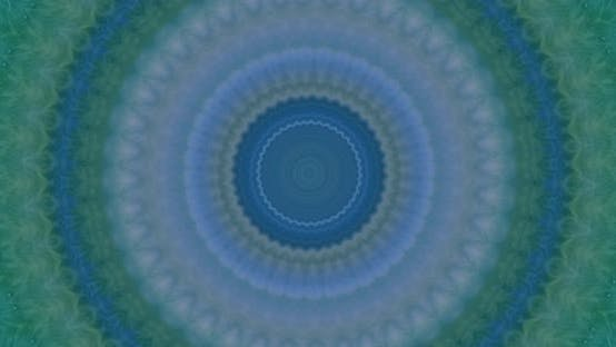 Thumbnail for Blue and green kaleidoscope. Mosaic seamless ornamental mandala effect, psychedelic motion flow.
