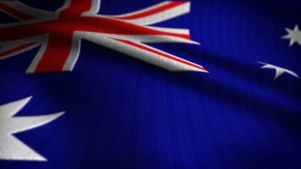 Thumbnail for Australia Flag Seamless Loop