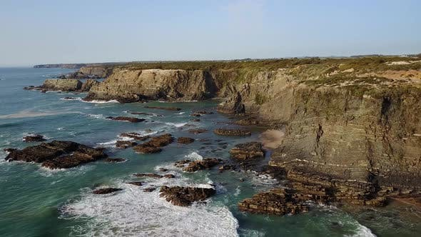 Thumbnail for Aerial view over the Southwest Alentejo and Vicentine Coast Natural Park