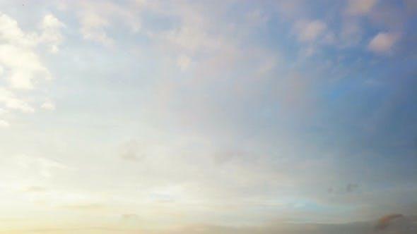Cumulonimbus Clouds Run Across the Blue Sky