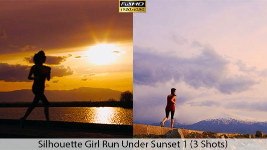 Running At Sunset / With Nature