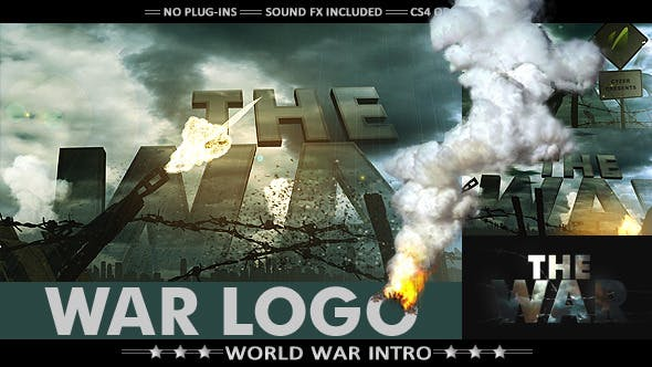 war logo realistic military intro by cyzer on envato elements