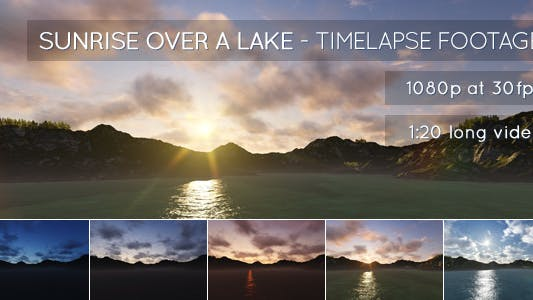 Cover Image for Sunrise Over a Lake
