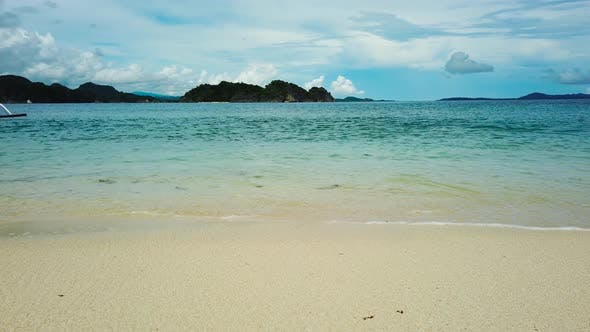 Tropical Beach and Blue sea, Caramoan Islands