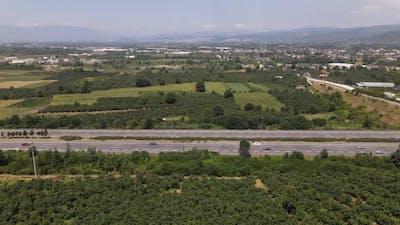 Asphalt Road Aerial Drone