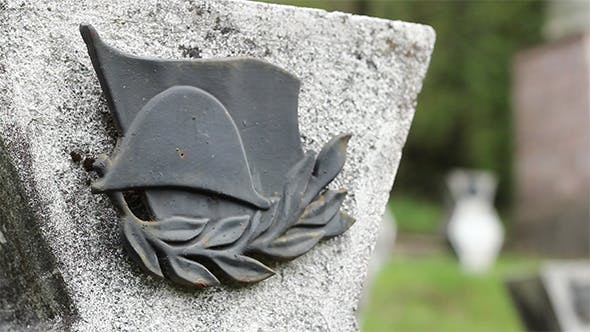 Thumbnail for WWII Military Ensign on Tombstone