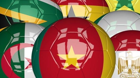 Thumbnail for 3D Soccer Ball - Africa Flags
