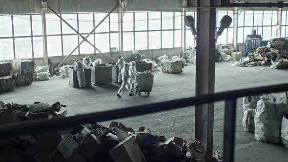 Thumbnail for Busy Workers of Garbage Recycling Facility
