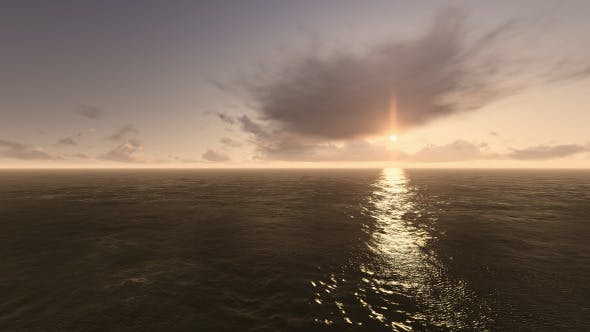 Thumbnail for Fly Over Sea During Sunset