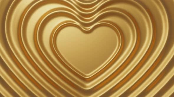 Abstract 3d Golden Heats Render Background Loop