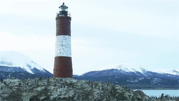 Thumbnail for Lighthouse in the Beagle Channel in Ushuaia, Tierra del Fuego, Argentina.