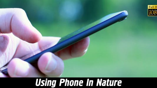 Thumbnail for Using Phone In Nature 4