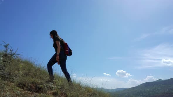 Thumbnail for Girl Walking In The Mountain