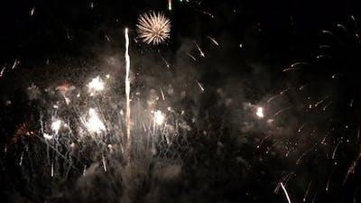 Fireworks Night Scene
