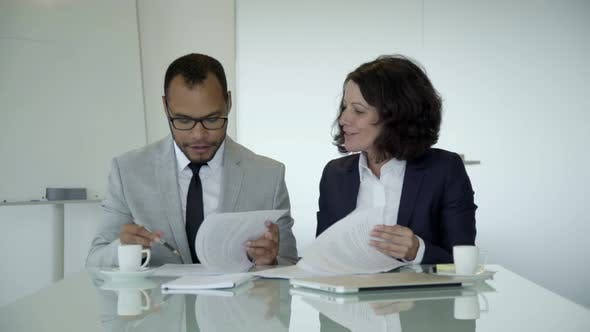 Thumbnail for Confident Lawyers Working with Documents in Office