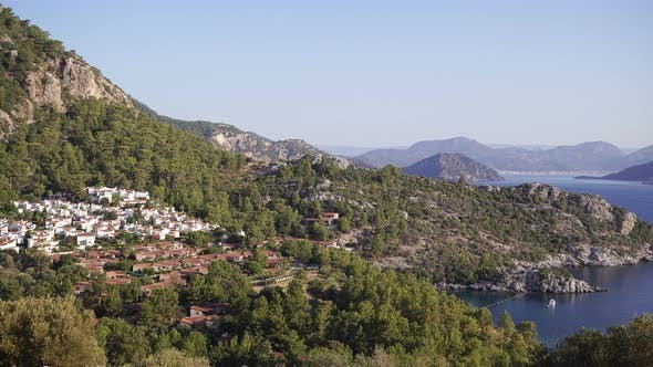 Thumbnail for Fascinating Views Of The Mountains And The Aegean Sea Turkey