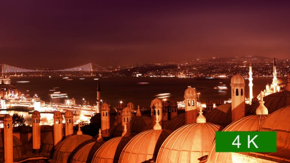 Thumbnail for Night Bosphorus Strait and Bridges