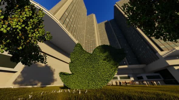 Thumbnail for Twitter Logo Tree And Skyscrapper