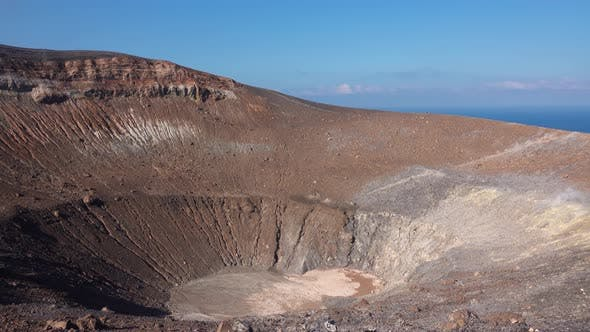 Thumbnail for Volcanic Gas Exiting Through Fumaroles on Grand or Fossa Crater of Vulcano Island. Lipari Islands
