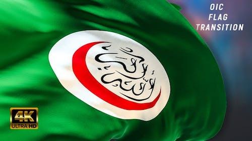 Organisation of Islamic Cooperation flag transition 4k
