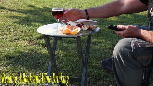 Thumbnail for Man Reading A Book And Wine Drinking