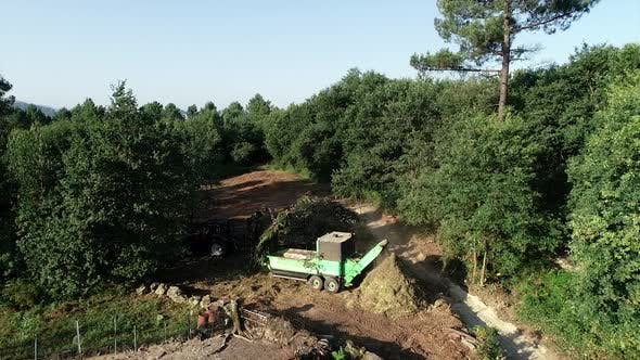 Thumbnail for Industrial Wood Chips Working in Forest