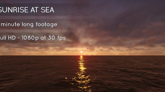 Cover Image for Sunrise at Sea