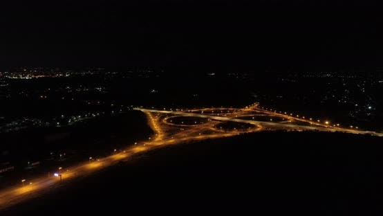 Thumbnail for Aerial timelapse City Freeway Traffic