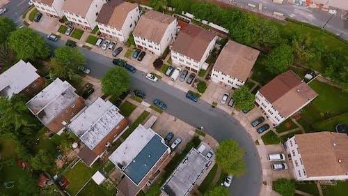 Real Estate Drone Shots Establishing Shot American Neighborhood Suburb