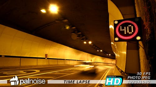 Speed Limit Signal in Tunnel