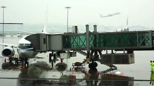 Aeroplane With Landing Pier