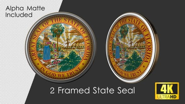 Thumbnail for Framed Seal Of Florida State