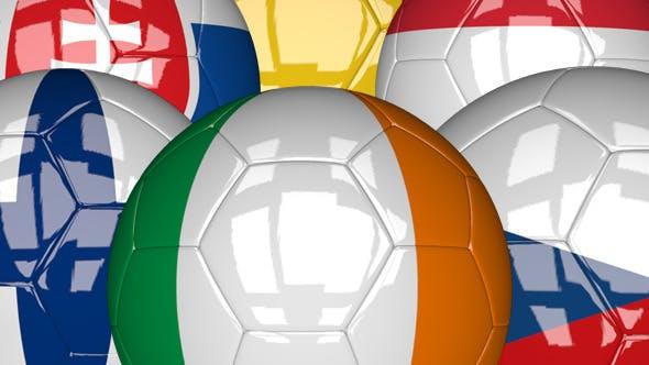 Thumbnail for 3D Soccer Ball - EU Flags Pack 5