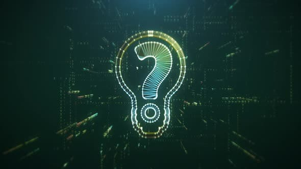 Thumbnail for Digital Animation of the Bulb with Question Mark