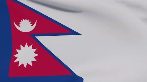 Flag Nepal Patriotism National Freedom Seamless Loop