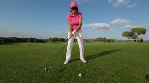 Thumbnail for golf woman sport senior outdoors playing