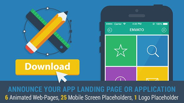 Thumbnail for Mobile App Landing Page Promo